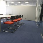 professional cleaning conference room being cleaned