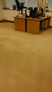 picture of office carpet after cleaning