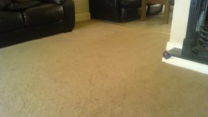 picture of a sitting room carpet before cleaning by Chem-Dry City West