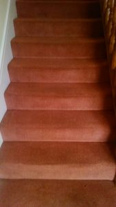 Stair carpet after cleaning