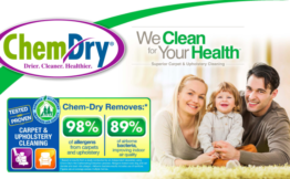 picture of family sitting on a carpet cleaned by chem-dry city west
